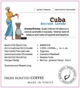 Coffee beans Majer Cuba Serrano - 250gr