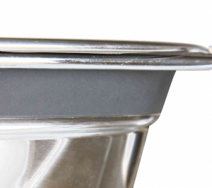 Trixie - Set di ciotole in acciaio con antivibrazione - 0.25L/11cm
