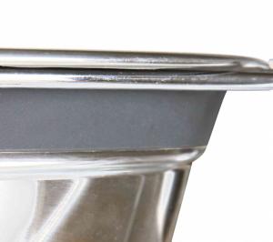 Trixie - Set di ciotole in acciaio con antivibrazione - 0.9L/16cm