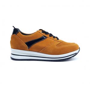 Sneaker cuoio Grunland