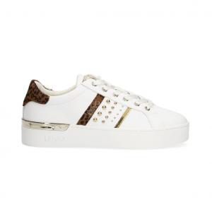 Sneaker bianca con dettagli animalier Liu Jo