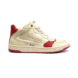Sneaker bianco sporco/rossa Guess