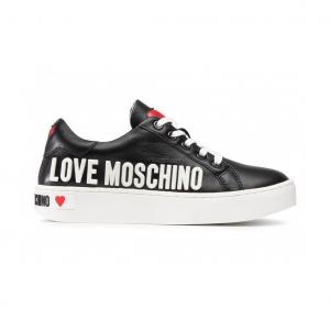 Sneaker nera con logo Love Moschino