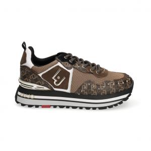 Sneaker marrone con stampa monogram Liu Jo