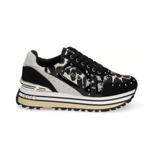 Sneaker nera/beige animalier Liu Jo