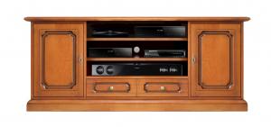 Meuble Tv Hi-fi en bois 160 cm largeur