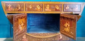 Buffet dipinto a mano in legno massello