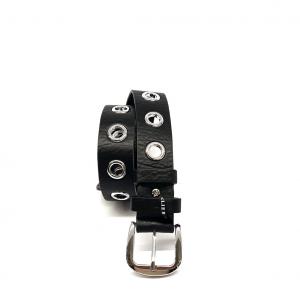 Cintura nera con maxi fori PashBag