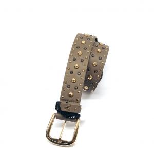 Cintura taupe con borchiette PashBag
