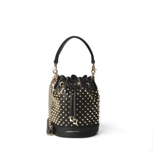 Secchiello nero con borchiette PashBag