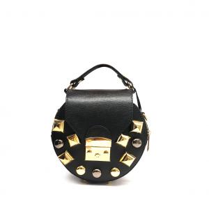 Minibag nera con studs Stefano Ghilardi