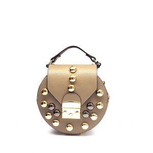 Minibag taupe con studs Stefano Ghilardi