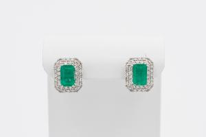 Orecchini di Smeraldi e Diamanti