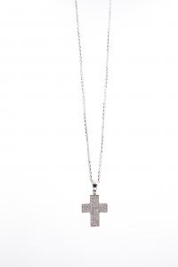 Croce di Diamanti in Oro Bianco