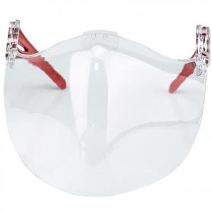 Maschera protezione viso policarbonato trasparente PPE con laccetti misura unica