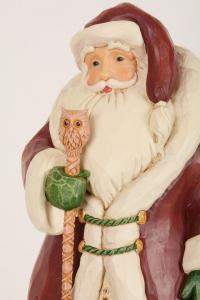 Jim Shore Babbo Natale con bastone e gufetto 31 cm