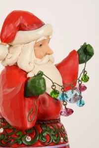 Jim Shore Babbo Natale carillon con palline colorate cm 26