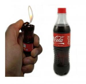 Accendino Bottiglia coca cola Ricaricabili Nuovo IDEA REGALO COLLEZIONE LIGHTER