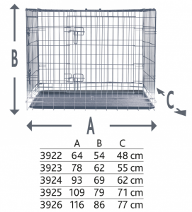 Trixie - Gabbia da trasporto in metallo - L/XL