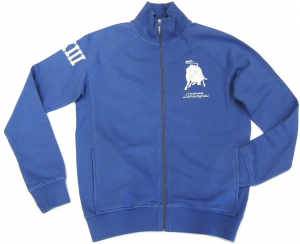 Lamborghini Men's Blu LXIII LS Zip Up Sweatshirt Delft/white