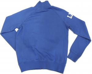 Lamborghini Men's Blu LXIII LS Zip Up Sweatshirt Delft/white