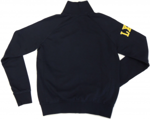 Lamborghini Men's Blu LXIII LS Zip Up Sweatshirt Navy/Yellow
