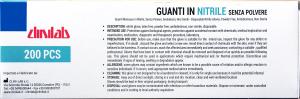 Guanti in Nitrile senza polvere monouso  latex free 200 pcs