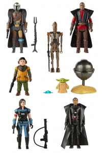 *PREORDER* Star Wars - The Mandalorian (Retro Collection) Action Figures: SERIE COMPLETA by Hasbro