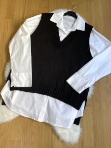 Gilet con camicia