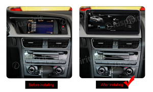 ANDROID navigatore per Audi A4 A5 S5/RS4/RS5/8K/B8/8T/4L 2008-2016 10.25 pollici 4GB RAM 64GB ROM Octa-Core CarPlay Android Auto Bluetooth GPS WI-FI