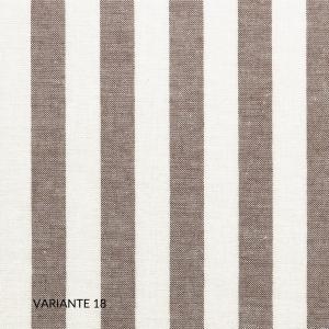 Copripiumino con 1 o 2 Fodere per Cuscini Letto 50x80, Duvet con Rivestimento a Righe, Parure 100% Puro Cotone | NEW YORK