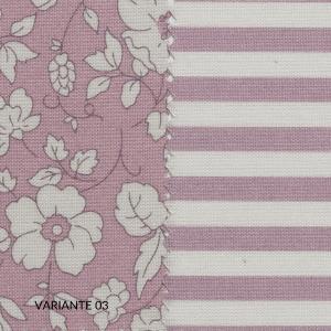 Set Completo Lenzuola con 1 o 2 Fodere per Cuscino 50x80, Decorazione con Lato Floreale e Lato a Righe, Morbido 100% Puro Cotone Naturale, Tessuto Anallergico | REIMS