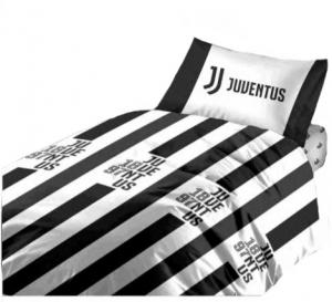 Completo  Juventus copripiumino con lenzuolo sotto letto singolo Prodotto Ufficiale