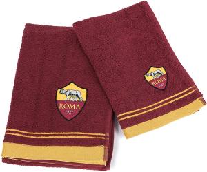 Coppia asciugamani 1+1 AS Roma Prodotto ufficiale