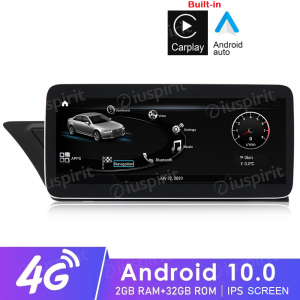 ANDROID navigatore per Audi A4 A5 S5/RS4/RS5/8K/B8/8T/4L 2008-2016 MMI 3G 10.25 pollici 2GB RAM 32GB ROM Octa-Core Car Play Android Auto Bluetooth GPS WI-FI