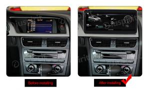 ANDROID navigatore per Audi A4 A5 S5/RS4/RS5/8K/B8/8T/4L 2008-2016 MMI 3G 10.25 pollici 4GB RAM 64GB ROM Octa-Core CarPlay Android Auto Bluetooth GPS WI-FI