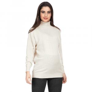 Gressoney maglione collo alto bianco