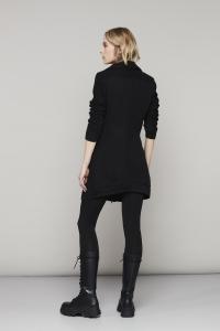 Giacca nera in felpa garzata European Culture.