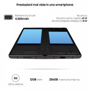 "Samsung Galaxy Z Fold2 5G, ext.6.2""/int. 7.6"", 256GB, RAM 12GB, NanoSIM, Android 10, Mystic Black"
