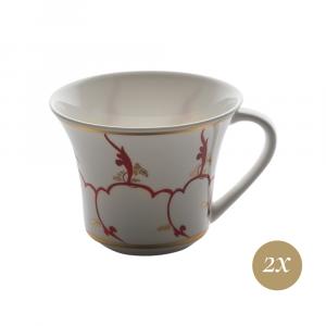 Set caffè 4 pezzi in Giftbox | Feston e Cadena Rosso