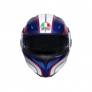 Casco AGV Compact ST Boston Matt Blue/White/Red