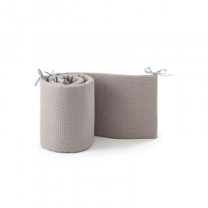 Materassino paracolpi lettino Baby Bumper Bamboom Soft Stone WARM GREY