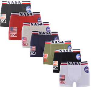 N. 7 Boxer NASA Uomo Misura S M L XL XXL America novità 2021