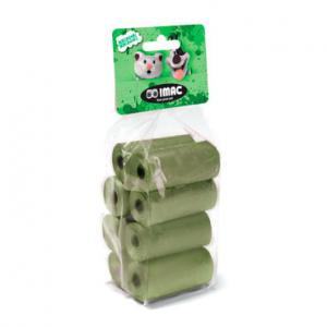 Imac - Sacchetti igienici biodegradabili - 8 rotoli da 15 sacchetti