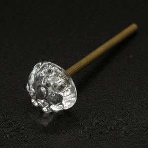 Vite filettata M4 con testa morellina cristallo in vetro di Murano