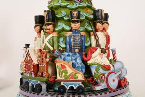Jim Shore Albero di Natale con carillon cm 29