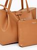 Borsa shopping media in pelle colore cuoio - PATRIZIA PEPE