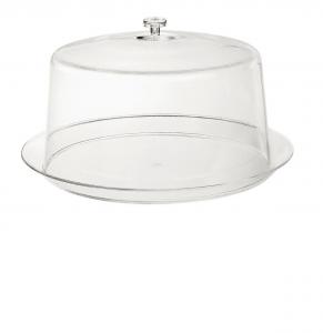 Portatorta in policarbonato con campana cloche cm.17h diam.21,5