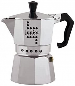 Caffettiera junior express in alluminio, 1 Tazza cm.10,9x9,5x14,5h