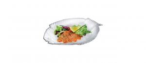 Set 6 piatti pesce antipasto in vetro Marina